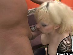 Britney Beth is a blonde whore with amazing natural boobs and a magic ass hole that makes this guy cum twice. He dumps the first load in her mouth and continues for the second.