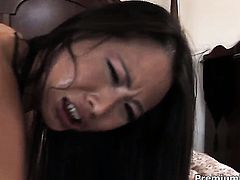 Asian Nyomi Zen cant resist mans rock solid schlong