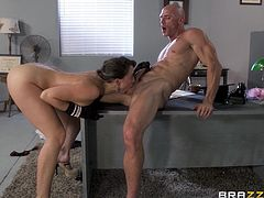 Chanel Preston enjoys rough rear pounding with Johnny Sins