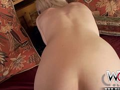 Kristy´s panties automatically drop at the sight of a big black cock. She can´t stop being banding over and letting him fuck her hard.