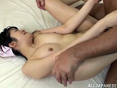 This naughty lady loves to play with a hot handsome stud's huge cock for a hardcore doggystyle fuck in orgasm.