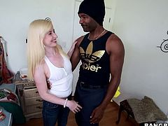 Kira Lake takes the big black huge cock in her mouth for a hot blowjob while her pussy gets fucked hardcore in orgasm.