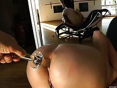 Ashley Fires gets the hole between her butt cheeks banged by John Staglianos rock hard sausage