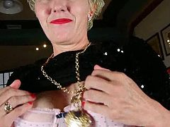 Older Woman Fun brings you a hell of a free porn video where you can see how this horny granny dildos her cunt into a massive orgasm while assuming hot poses.
