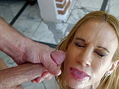 Sarah Jessie treats cock a suck for a hardcore pov blowjob