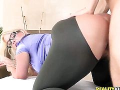 Erik Everhard loves always wet warm love hole of Blonde Julie Cash with phat ass and clean beaver