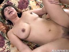 horny japanese wife in bra kiss erotically then she gives hot blowjob her hairy pussy licked and she get banged hardcore