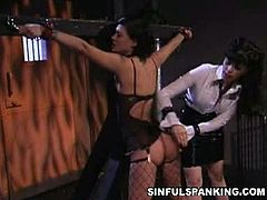 Jezebelle Bond and Natasha Sweet love bdsm in this naughty free porn video set by Sinful Spanking. See how the sexy brunette spanks her slave's ass into ecstasy.