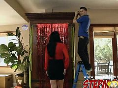 Stepmom Bianca Breeze tricks younger couple into a threesome