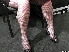 Daddy in fishnets fucks hot BBW. She knows what she wants and she wants it now. This is the kind of place where she wants to be and there is no stopping this greasy whore.