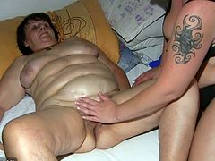 Chubby granny and fat blonde girl with big tits