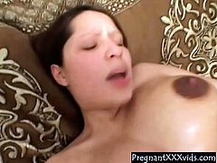 8 month pregnant Milf Fucked