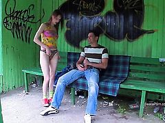 Beata shows her slutty side to hard dicked dude