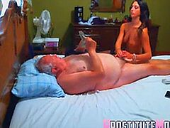 Escort vip massage and blowjob to old man.