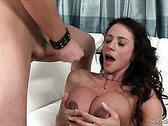 Ariella Ferrera has dick-hungry snatch and takes Anthony Rosanos sausage
