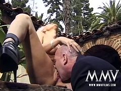 Two blondes get fucked hard in their tight asses and enjoy it German time. Kelly Trump on one side and Tina on the other. Who fucks best?