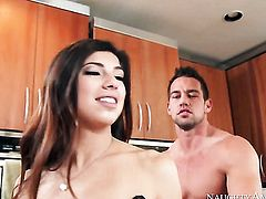 Johnny Castle pulls out his schlong to fuck Ava Taylor