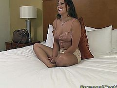 Real casting amateur posing and fucking doggystyle till climax in awesome pov