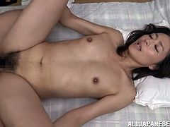Very horny Japanese MILF hooks up with a younger guy and gets fucked
