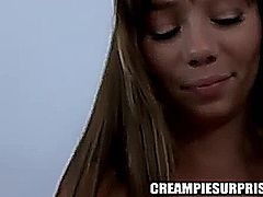Capri Anderson gets a creampie surprise.
