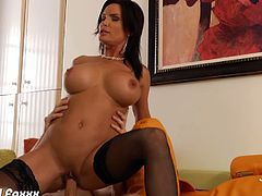 Busty Diamond Foxxx is so blazing hot you can't get enough of her just by looking at her when getting fucked. What else if you are into the lucky guy's position? You might cum early because of her hotness.