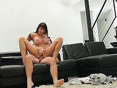 Manuel Ferrara makes Eva Karera gag on his beefy love stick after she takes it in her butt