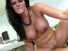 Eat Sleep Porn brings you a hell of a free porn video where you can see how the naughty brunette milf Mackenzee Pierce gets banged pov style into a massive orgasm.