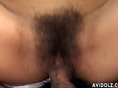 Japanese gal gets her hairy pussy played by these guys using their fingers. She got lubricated so much because of her pussy juice because of that prompting for a fast ride cowgirl sex.