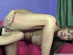 Ginger lesbian darla crane scissor-fucks the cutest kitten ever.