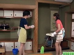 Japanese hot mature are in for some action.See how these two horny guys gets naughty with these cleaning ladies for hardcore group fuck action.Enjoy those hairy wet cunts getting railed.