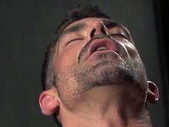 Features Bruno Bond and Junior Stellano in a hot blowjob scene, showing off that hard dick getting licked and sucked all over; even the balls are getting plenty of attention.