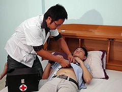 Doctor Twink has a visit to a twink named Best. Best is a horny and slutty lad and he just cannot stop himself to beg other boys to fuck him all the time.