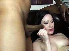 Jennifer White is on the way to the height of pleasure with hard ram rod in her butthole