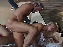 Hot dp action as a young blonde chick get taken to cuming school by two cocks. Each guy wants the girl to cum, and forces his cock inside her virgin pussy.