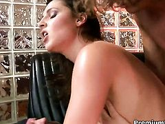 Lauren Phoenix makes her dirty dreams a come true with dudes schlong deep down her throat