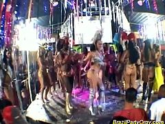 Brazil Party Orgy brings you a hell of a free porn video where you can see how this amazing Brazilian carnival orgy gets out of control while assuming very naughty positions.