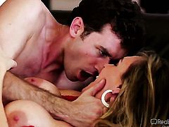 James Deen gets seduced by Tanya Tate and then pounds her mouth