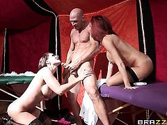 Flirtatious wench loves the way Johnny Sins pounds her slit