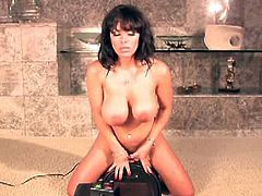 Sienna is back and ready for more masturbation at its best! She loves touching herself in all the right spots! She slowly strips out, unleashing her big boobies and bald pussy. She gets super horny while she rides the sybian..the big cock goes in and out of her wet pussy. This gorgeous naughty girl is ready to turn you on!