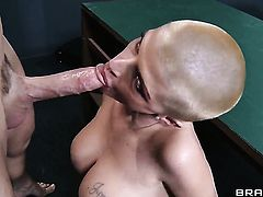 Johnny Sins is horny as hell and cant wait no more to slam Joslyn James with huge hooters