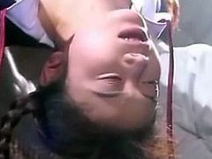 Asian teen schoolgirls in three separate hard bondage scenes