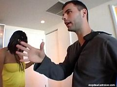 Angelina Castro is very cute with two natural big tits, However she fucked very Hard amore.