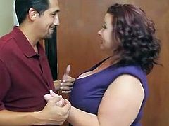 Bigtitted chunky mature donna Lynn makes love Landlord to Save House
