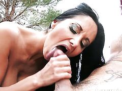 Tyler Nixon gets pleasure from fucking Oriental with massive jugs and clean bush in her muff