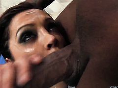 Francesca Le gets mouth slammed by Jon Jons erect dick before backdoor sex
