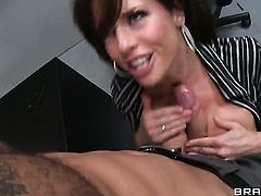 Veronica Avluv with giant melons gives mouth job like no other and horny guy Danny Mountain knows it