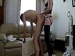 Spanking And Fucking Hubby With Strapon