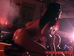 Amazing lesbian Julia de Lucia and Coral Joice fuck on stage by Viciosillos
