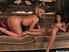 Alexis Love and Marlie Moores are ready to spend hours rubbing each others eager pussy non-stop