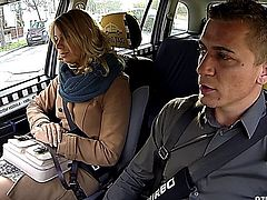 Cute Russian Girl Gets Plowed in the Back of the Taxi